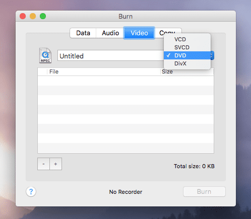 Burn Video On Mac With Burn App