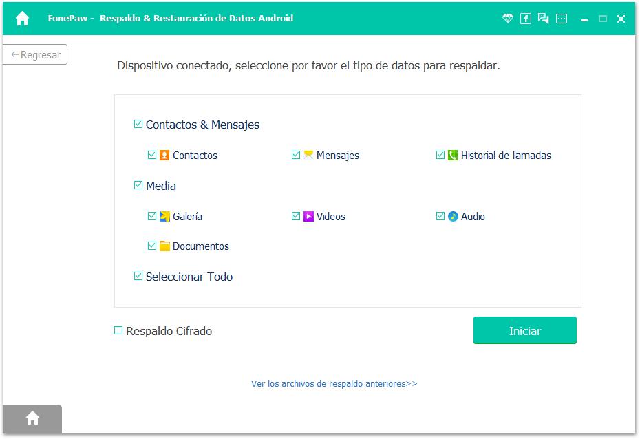 seleccionar archivos de Android