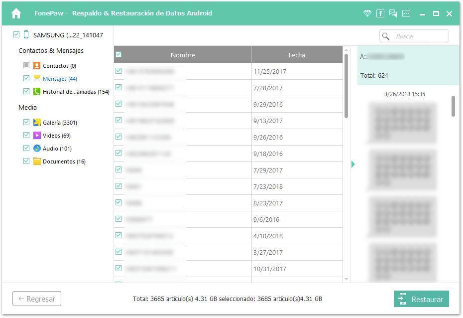 hacer copia de seguridad de SMS Android