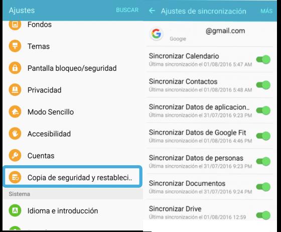 recuperar datos después de restablecimiento de Android con Google