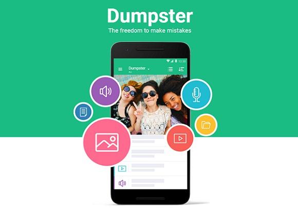 Dumpster papelera de reciclaje Android