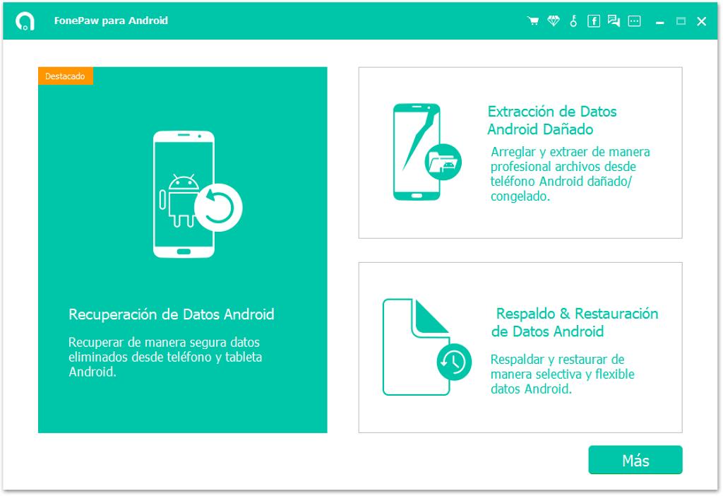 Abrir FonePaw Recuperación de Datos Android
