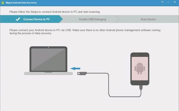 Interfaz de Myjad Recuperación de Datos Android