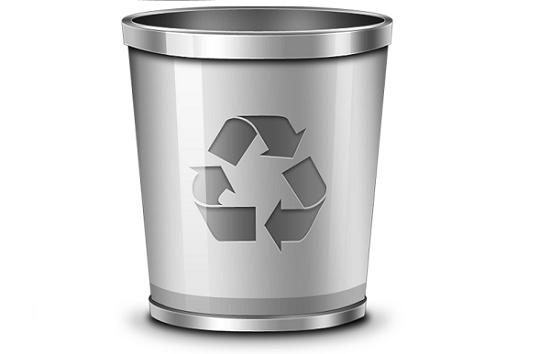 papelera de reciclaje de Android