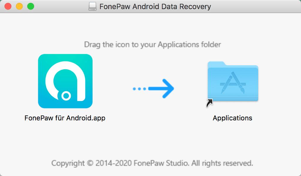 Asistente de instalación de FonePaw en Mac