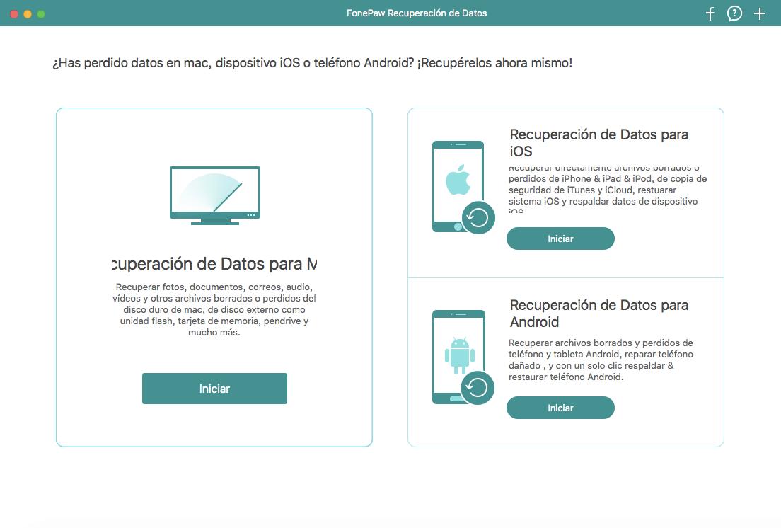 recuperar archivos con FonePaw Recuperación de Datos