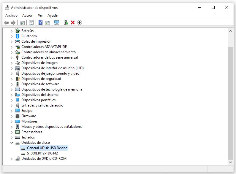 hardware en administrador