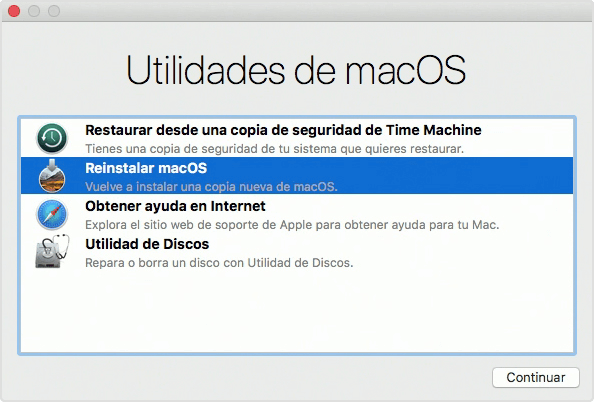 reinstalar macOS