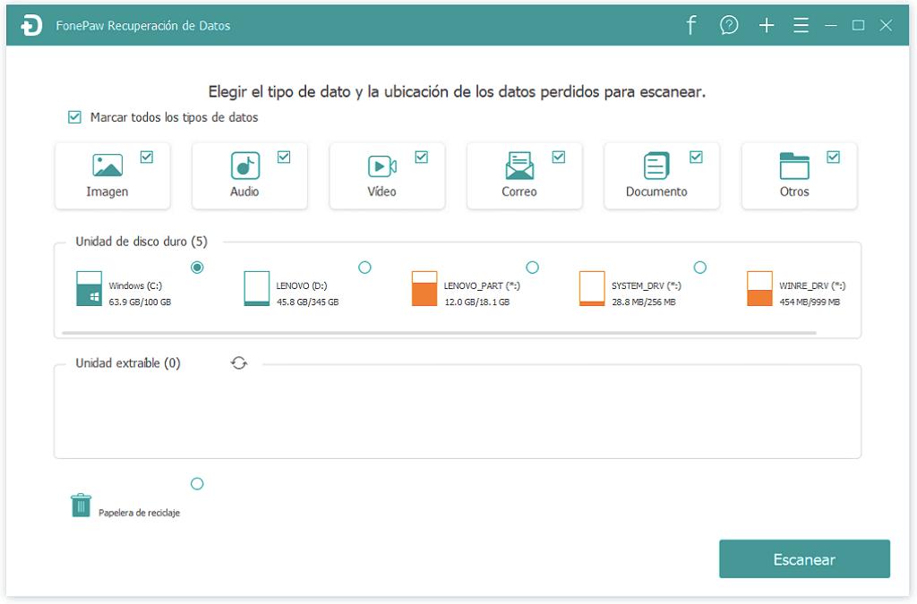 seleccionar datos para recuperar