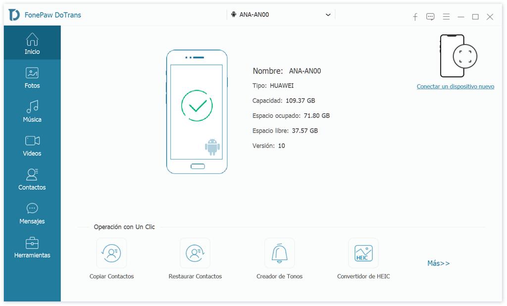 Conectar Huawei al ordenador
