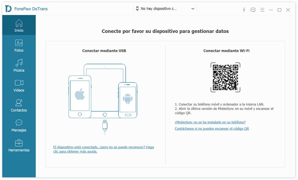 Conectar dispositivo iOS