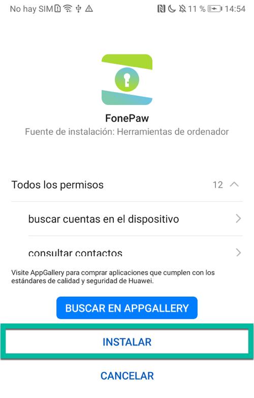 Instalar FonePaw App