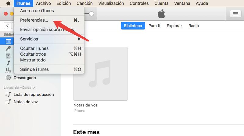 activar Biblioteca de música de iCloud en PC