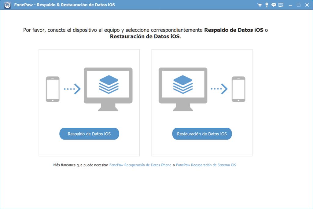 Interfaz de Respaldo de iOS