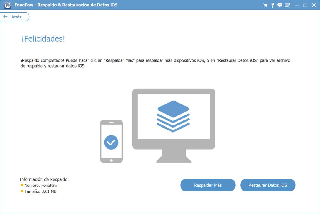 Crear una copia de seguridad de iOS