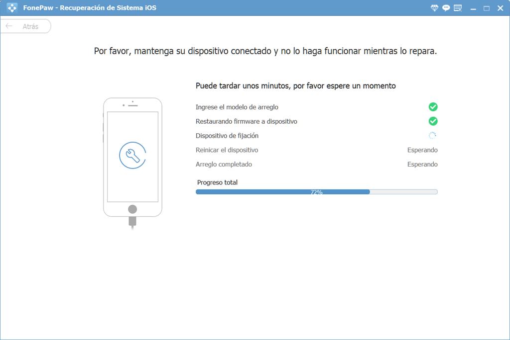 Reparar el dispositivo iOS