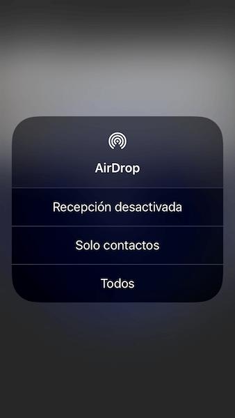 Activar AirDrop