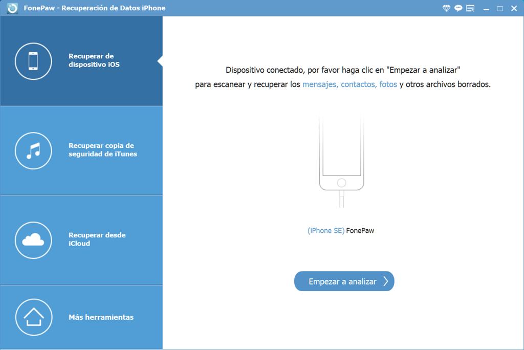 FonePaw Recuperación de Datos iPhone