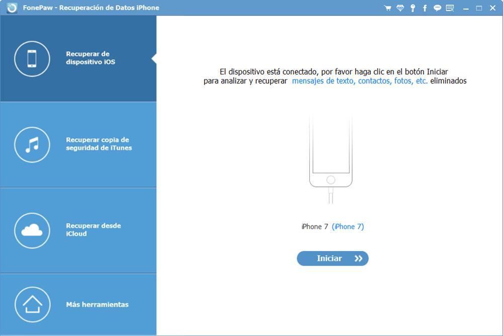 Recuperar las fotos borradas de iPhone con FonePaw