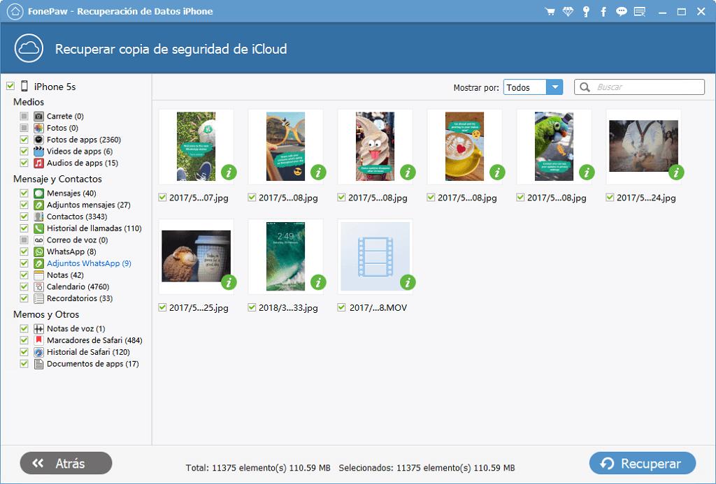 Recuperar las fotos de iCloud