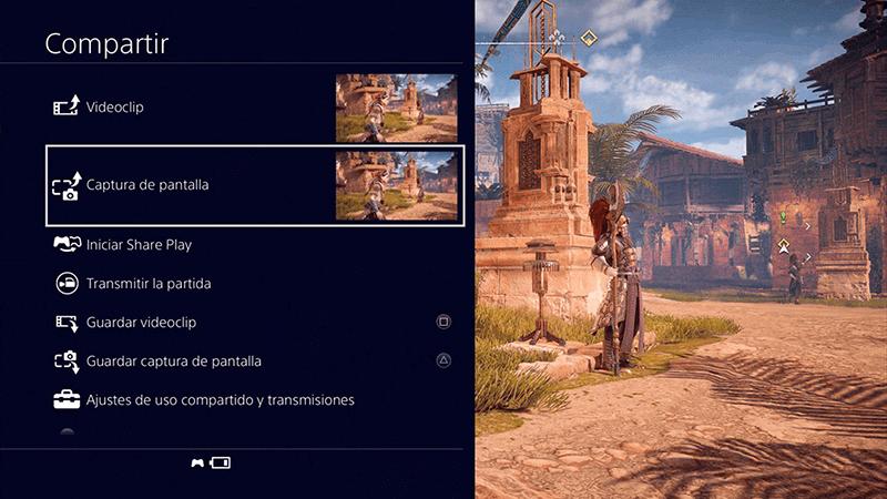compartir captura de pantalla en PS4