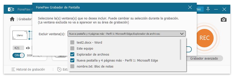 Excluir una ventana en FonePaw
