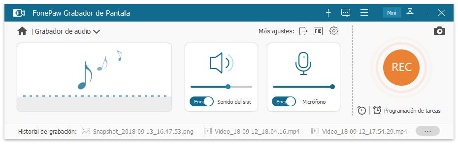 Grabador de audio para Discord