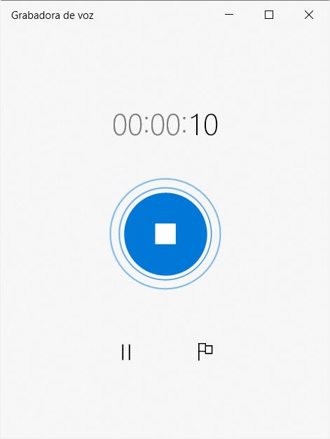 Grabar el audio con grabadora de voz de Windows