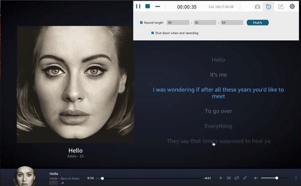 Grabar música de Amazon Prime