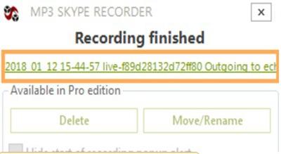 reproducir la grabación