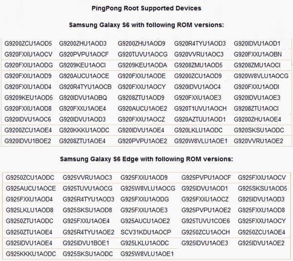 Pingpong Root dispositivos compatibles