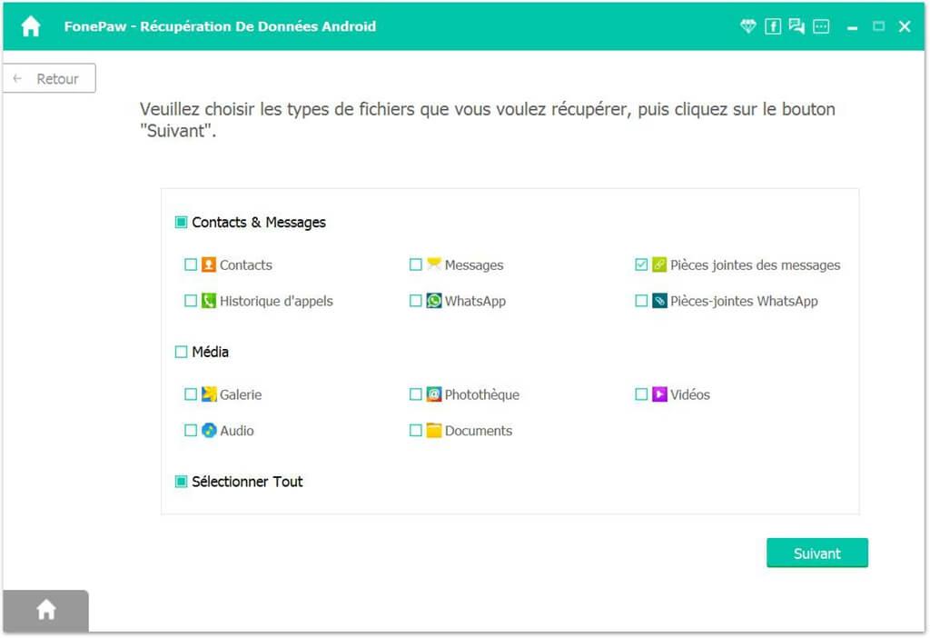 FonePaw - Récupération de Données Android
