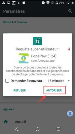 autoriser l'installation de FonePaw