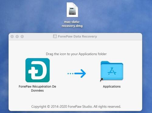 installer FonePaw Récupération De Données sur Mac
