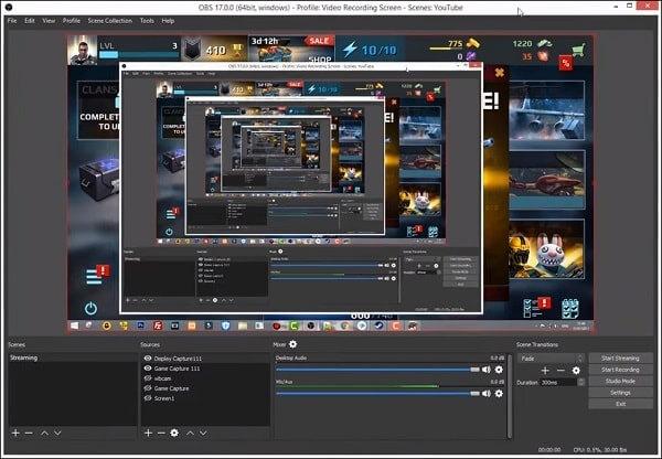 OBS - Logiciel libre et open source d'enregistrement vidéo