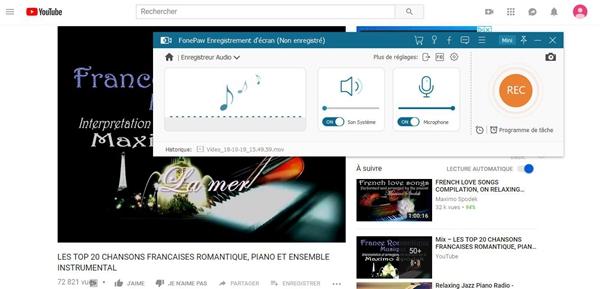 Configurer les paramètres d'enregistrement audio