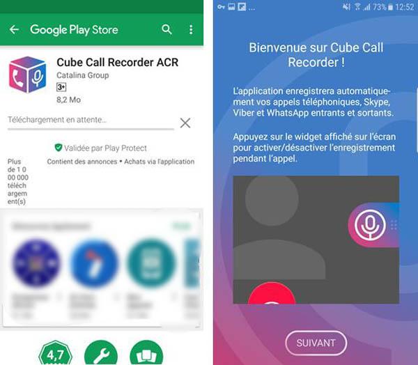 Enregistrer les appels vidéo WhatsApp sur Android