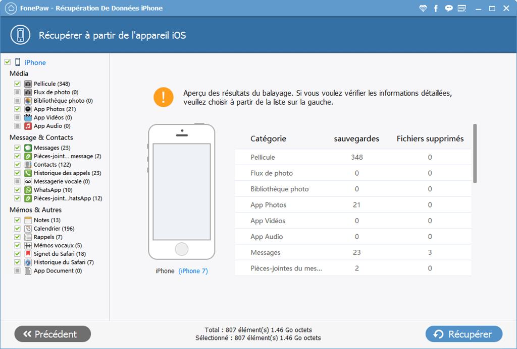 FonePaw - Récupération De Données iPhone