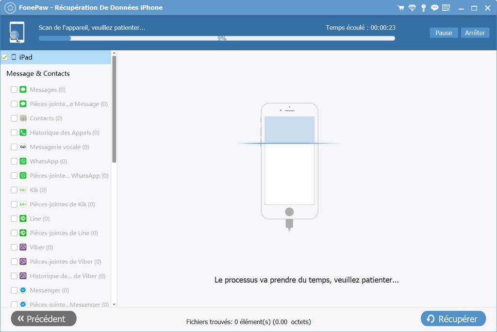 récupérer les messages supprimés directement de votre appareil iOS