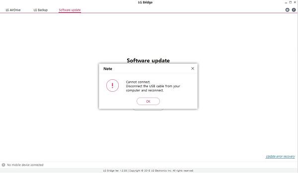 LG AirDrive ne fonctionne pas
