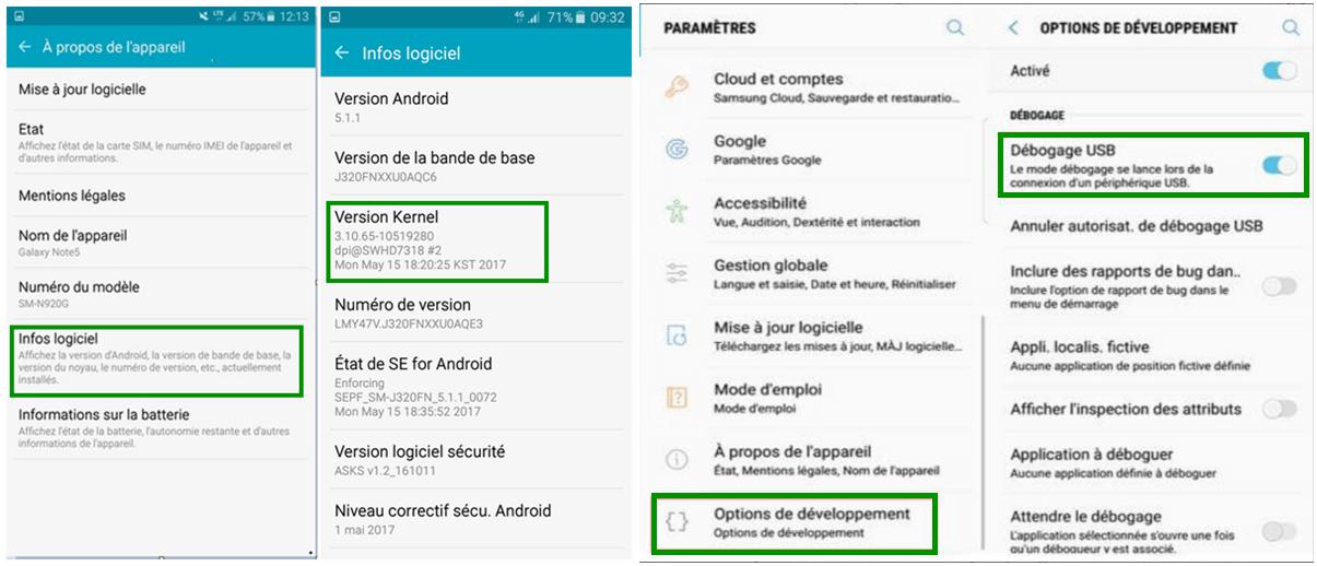 activer le mode Débogage USB sur Samsung