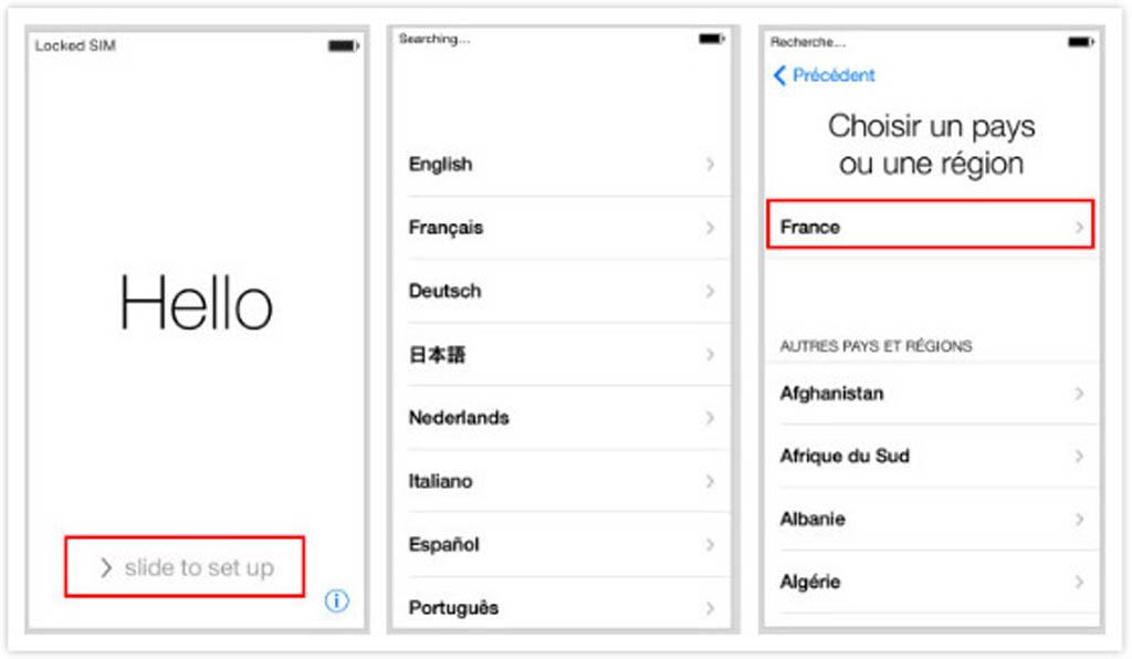 configurer votre nouvel iphone