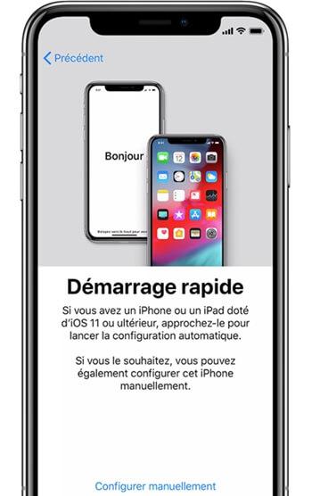 iphone-x setup quickstart
