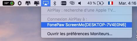 Faire projeter l'écran d'un Mac sur Windows
