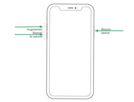 Forcer le redémarrage d'un iPhone X