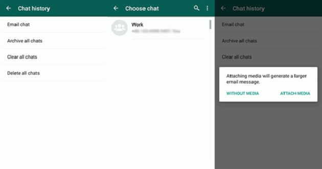 whatsapp chat history email chat