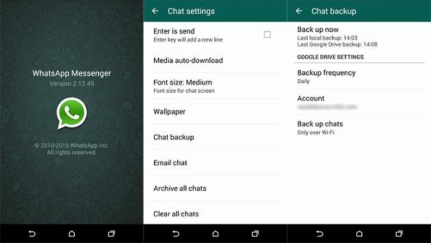 whatsapp googledrive backup