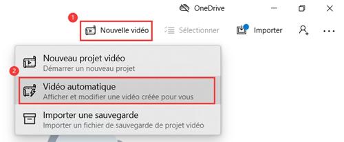 Cliquez sur le bouton « Nouvelle vidéo »