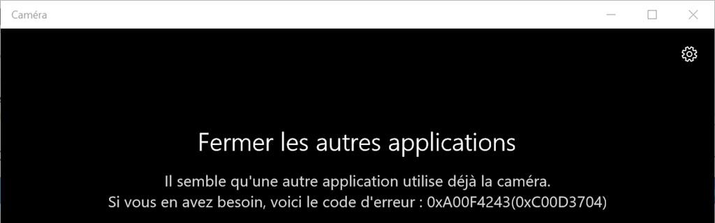 Résoudre le problème de la caméra Windows 10
