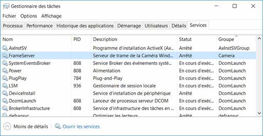 Vérifier le Gestionnaire de tâches Windows 10